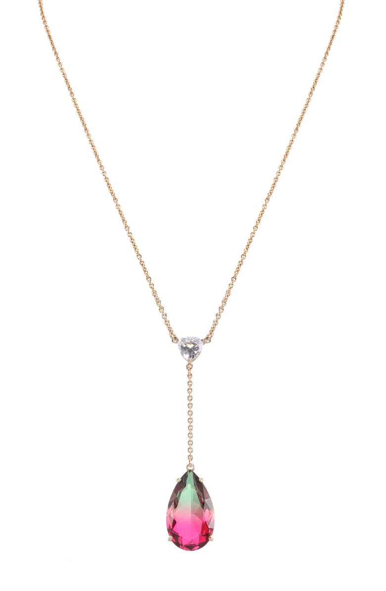 NINA Teardrop Y-Shape Necklace, Main, color, 650
