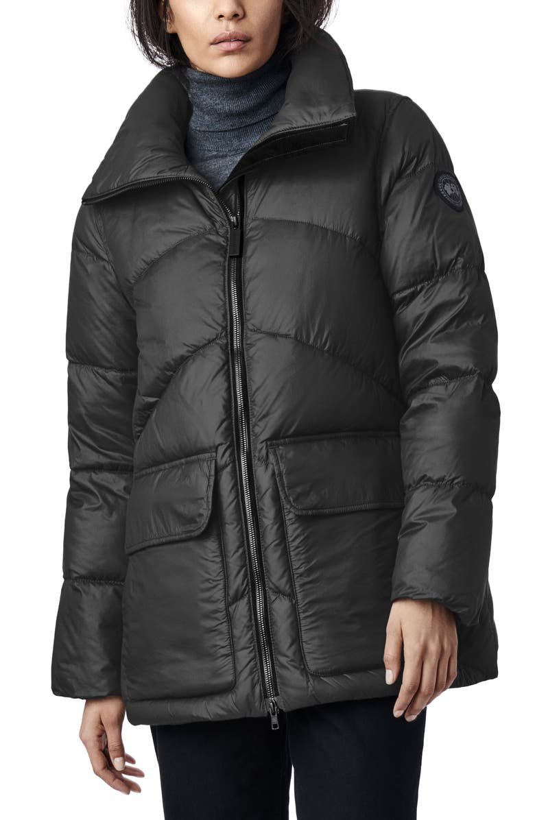 CANADA GOOSE Ockley Down Chevron Quilted Parka, Main, color, 001