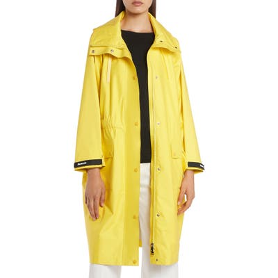 Moncler Sapin Water Resistant Hooded Raincoat, Yellow