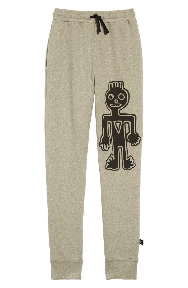 NUNUNU Graphic Sweatpants, Main, color, HEATHER GREY