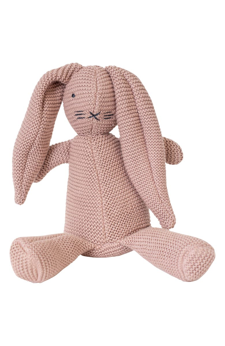 ZESTT Organic Cotton Classic Knit Bunny Stuffed Animal, Main, color, 650