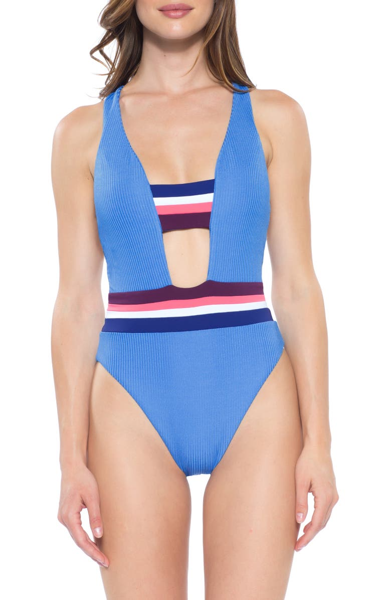 BECCA Revine One-Piece Swimsuit, Main, color, 400