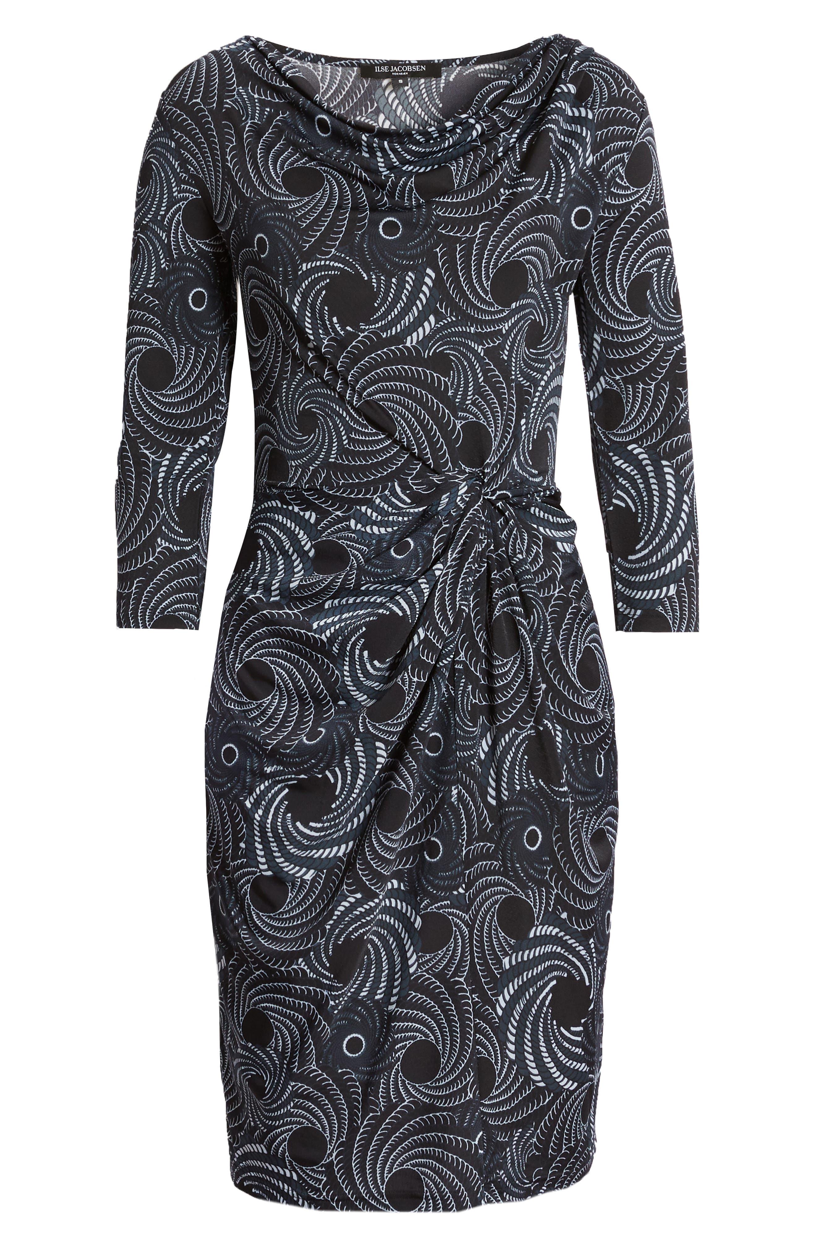 Twist Waist Jersey Sheath Dress