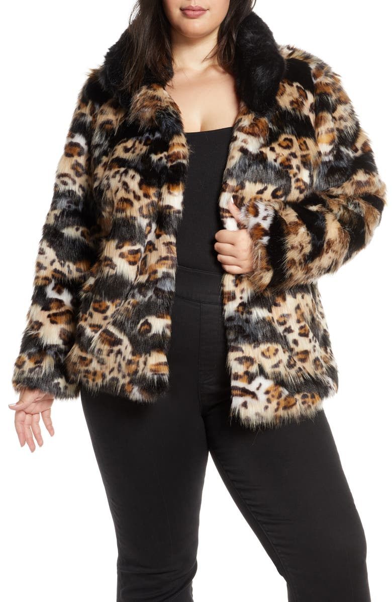 Sam Edelman Faux Fur Coat Plus Size