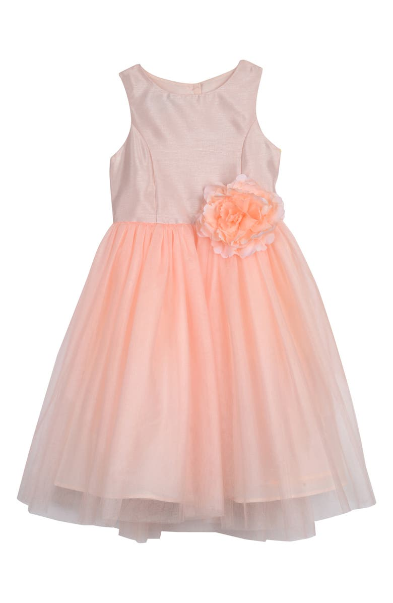 PIPPA & JULIE Ballerina Dress, Main, color, BLUSH