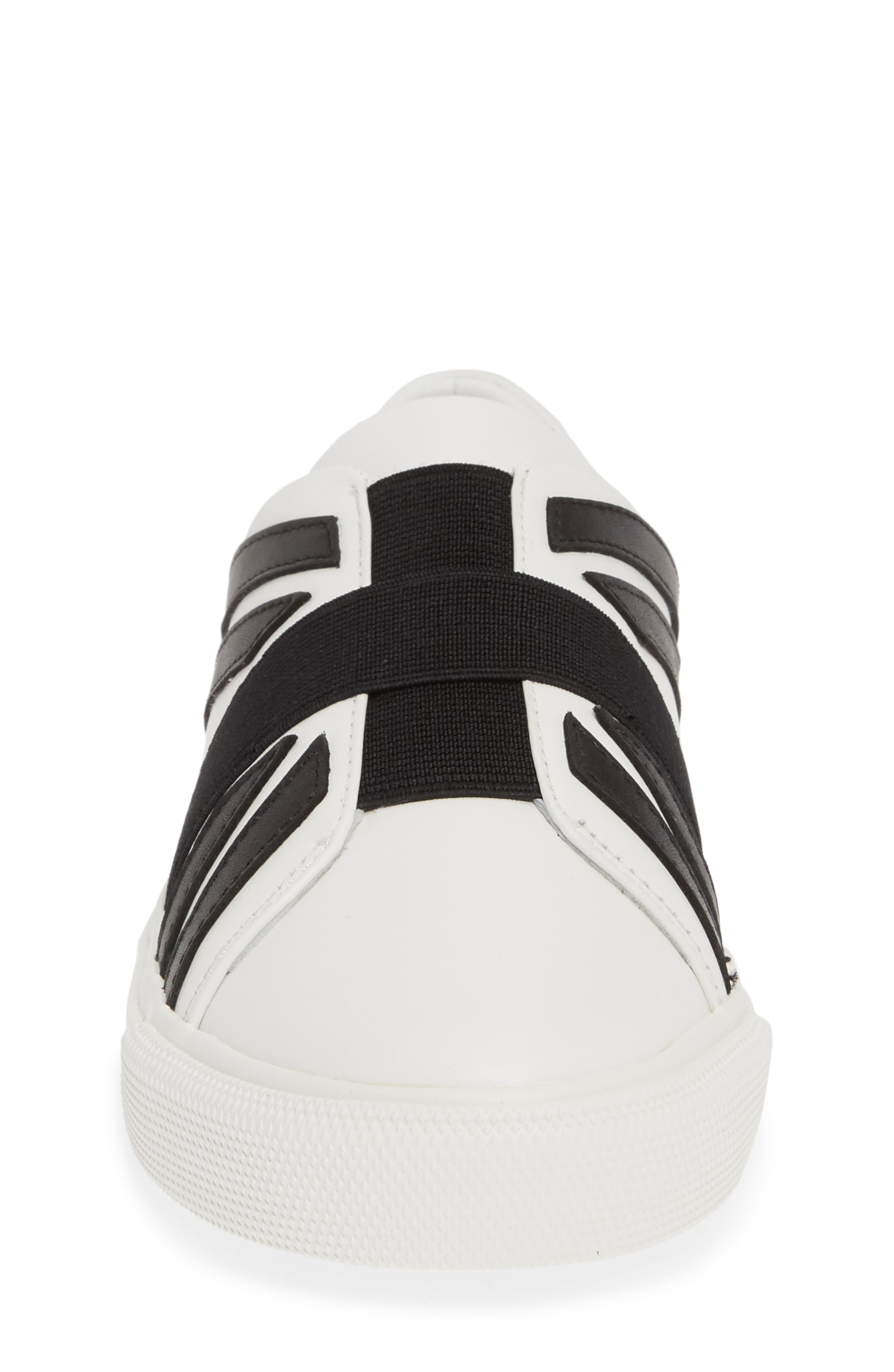 ,                             Cedbury Union Jack Sneaker,                             Alternate thumbnail 4, color,                             OPTIC WHITE/BLACK