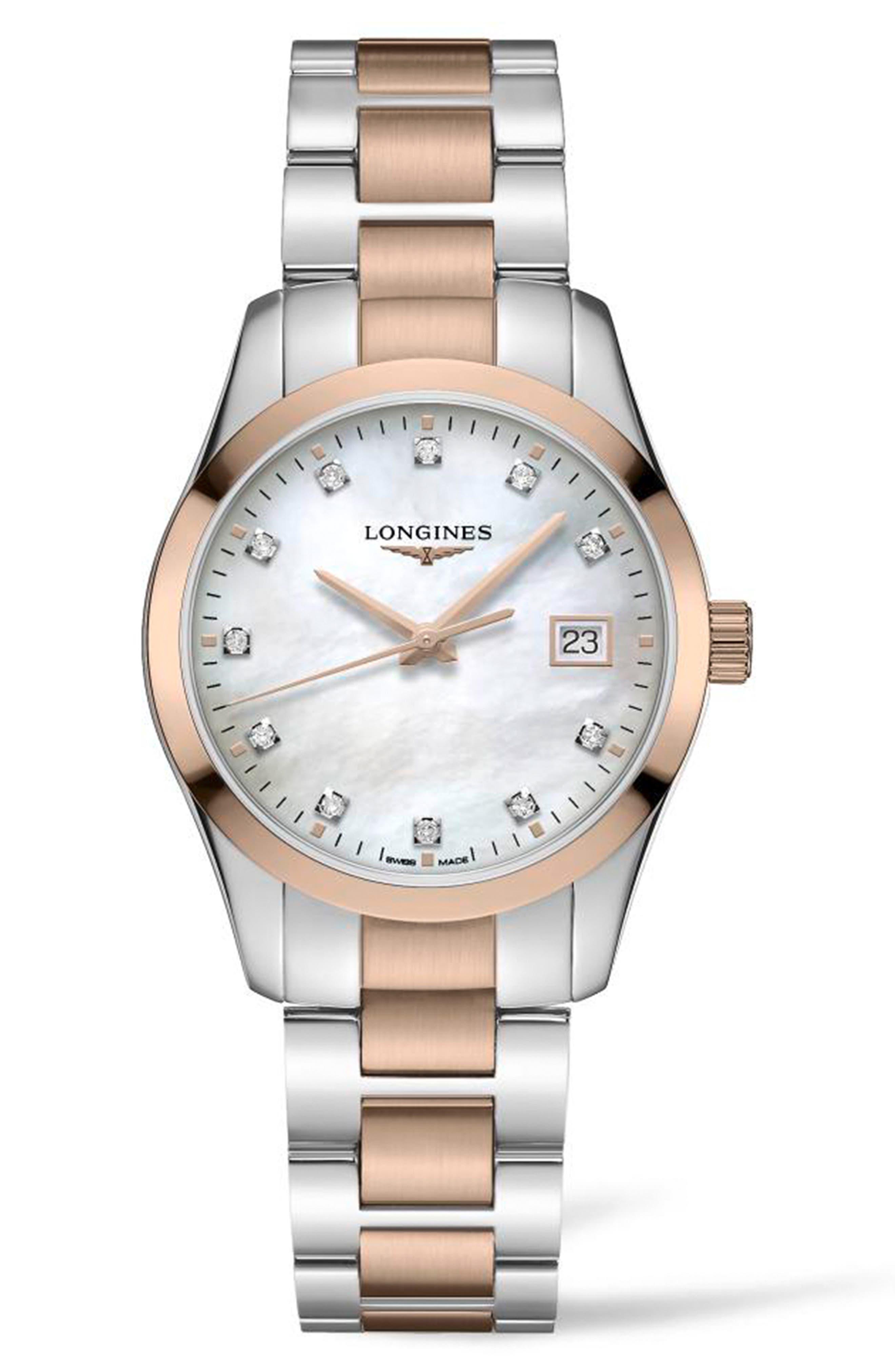 Conquest Classic Diamond Index Bracelet Watch
