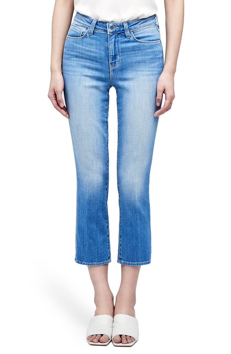 L'AGENCE Nadia High Waist Crop Straight Leg Jeans, Main, color, ROCKFORD