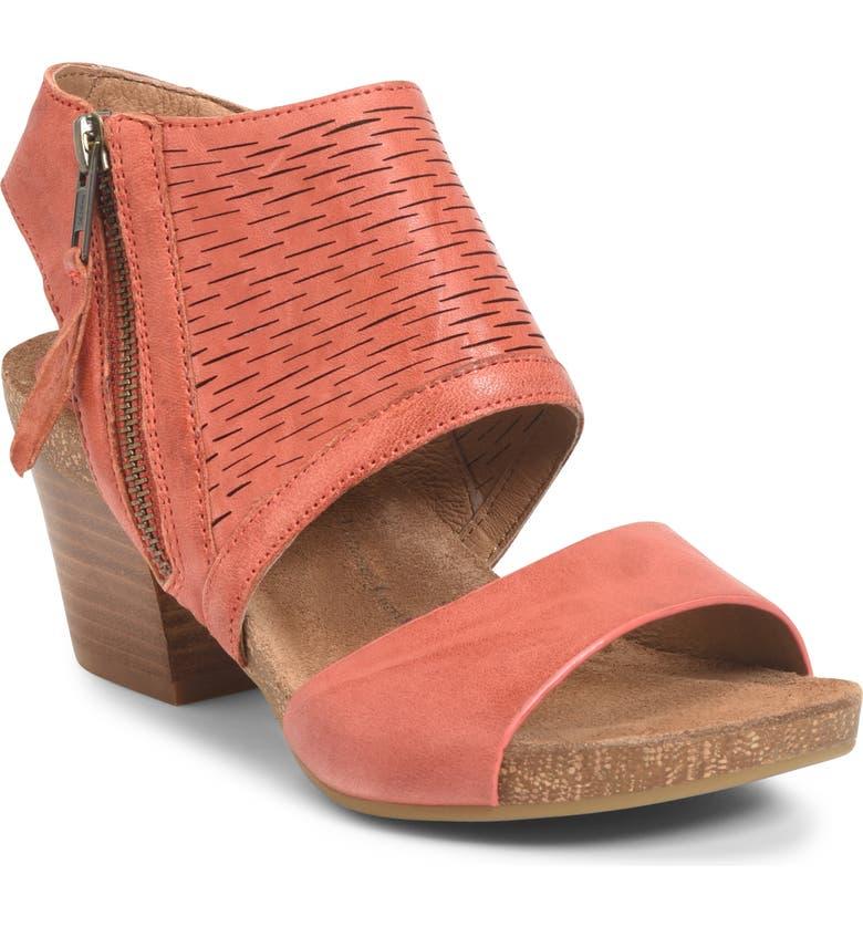 SÖFFT Milan Block Heel Sandal, Main, color, MANGO LEATHER