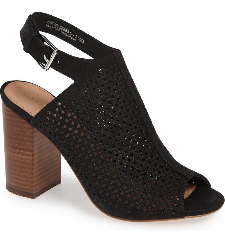 HALOGEN<SUP>®</SUP> Demi Perforated Shield Sandal, Main, color, 001