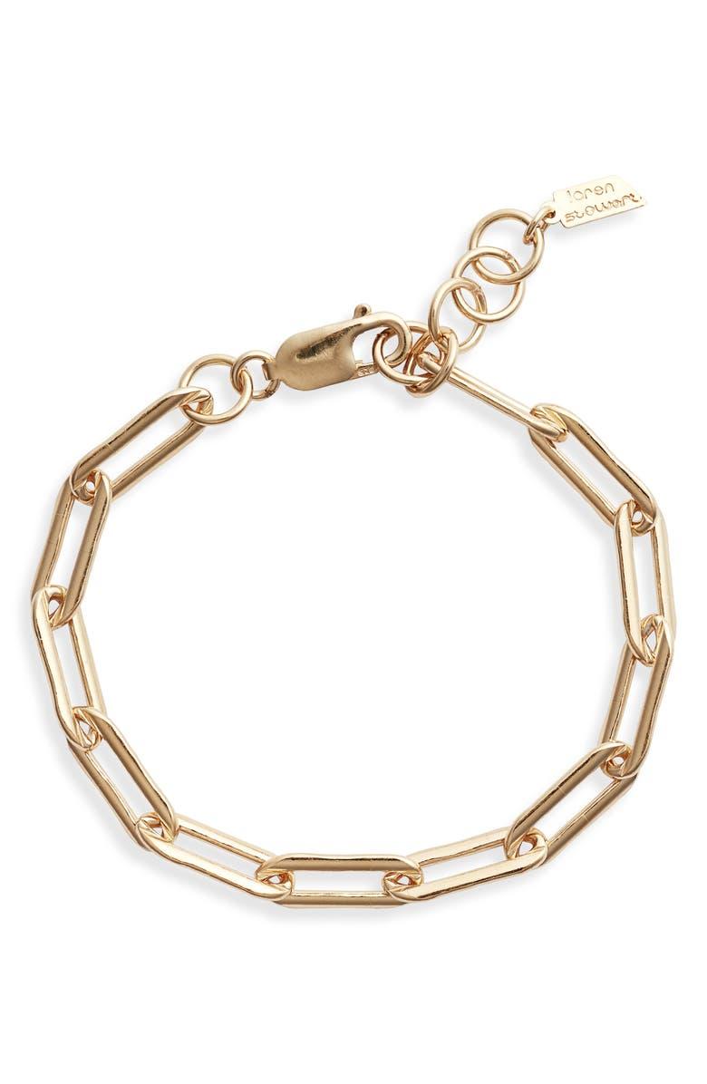 LOREN STEWART Moderna Long Link Bracelet, Main, color, YELLOW GOLD