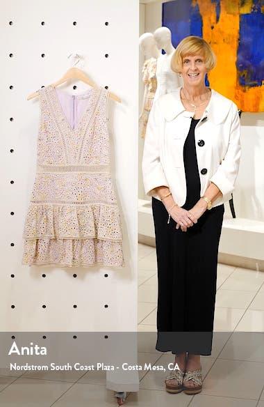 Tonie Embroidered Eyelet Minidress, sales video thumbnail