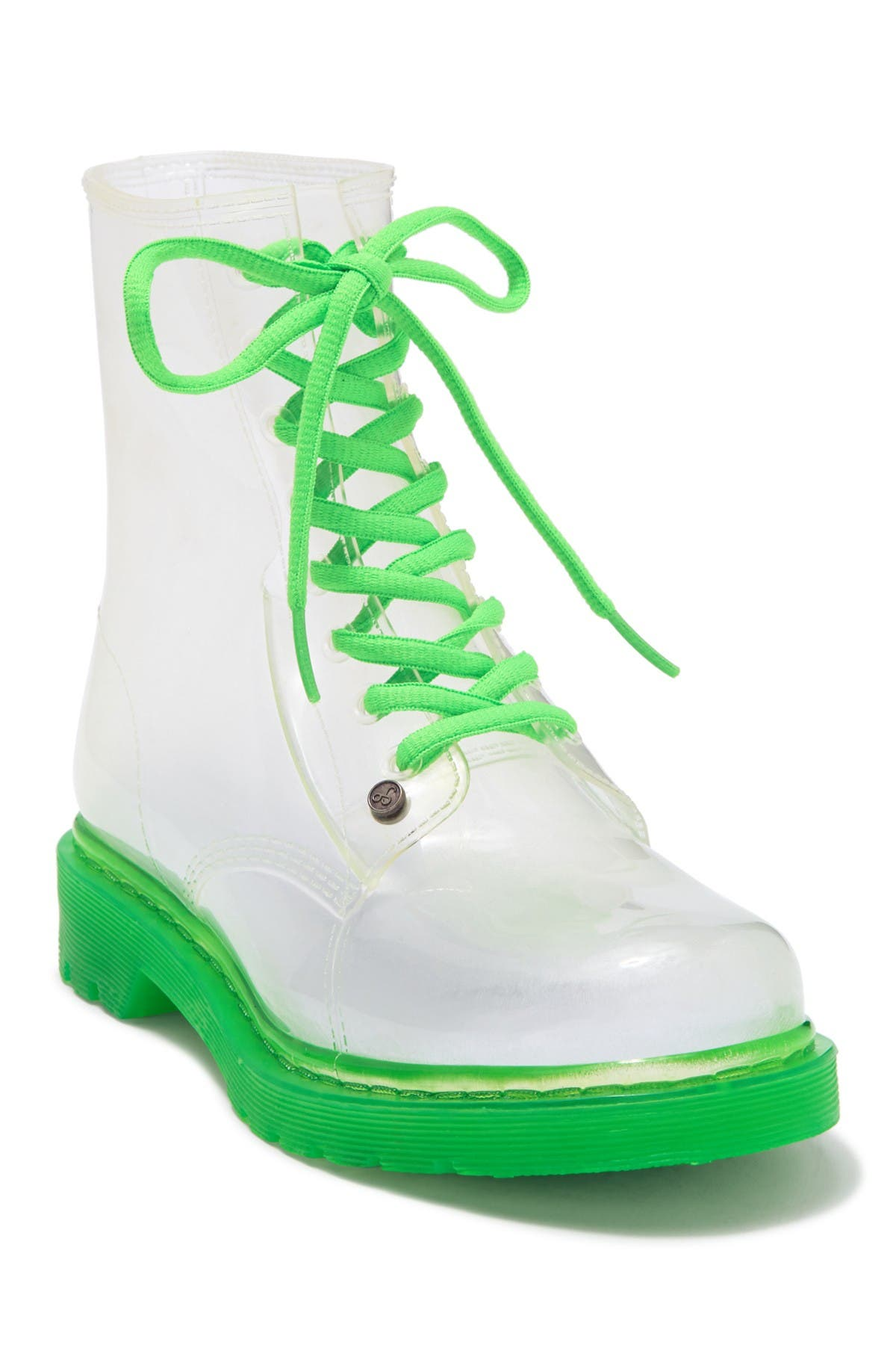 Image of Workshop Ginny Green Fluorescent Sole Rainboots