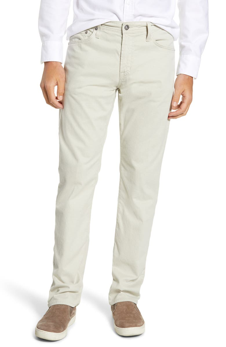 AG Herringbone Everett SUD Straight Leg Pants, Main, color, PALE TRAVERTON