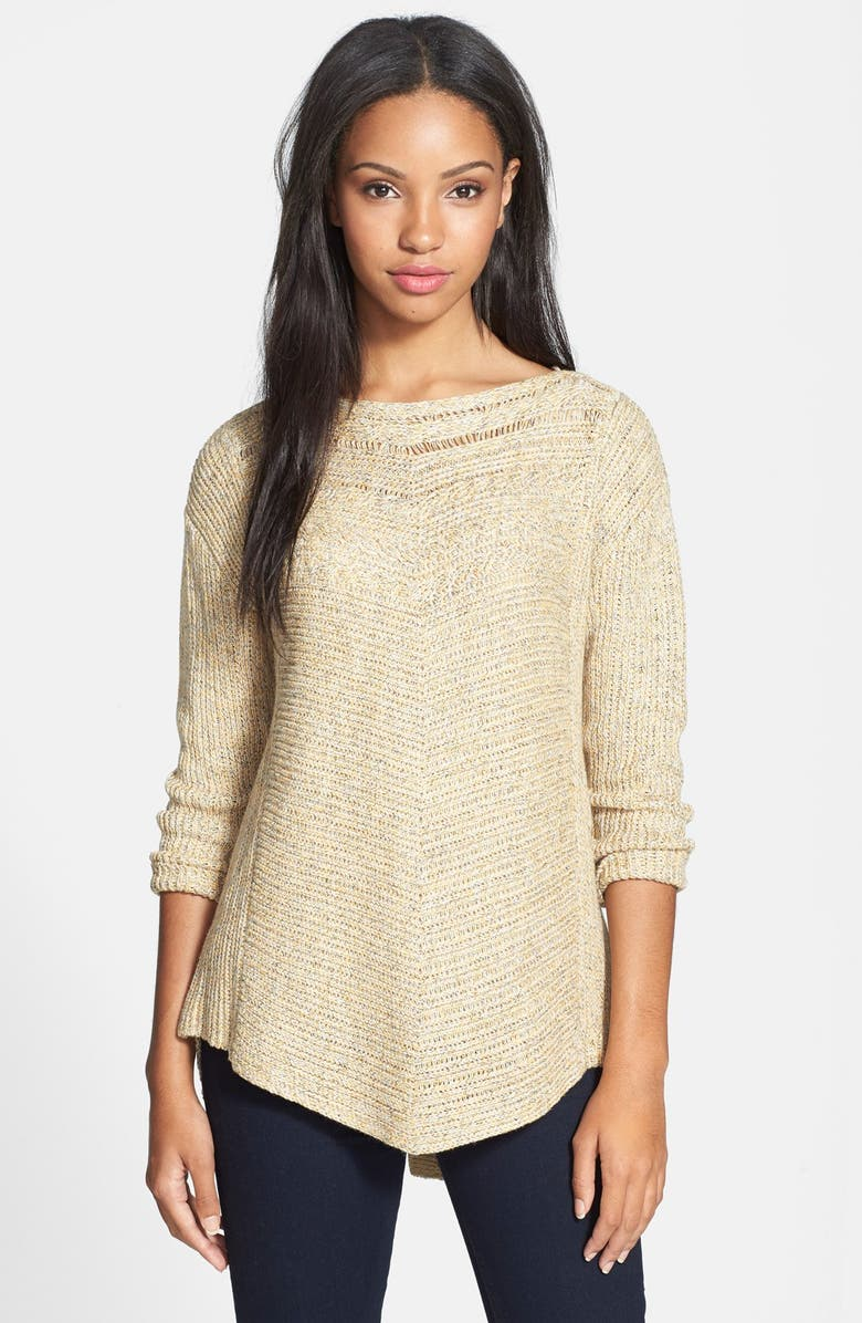 NIC+ZOE 'Rich Stitch' Button Back Sweater, Main, color, 201