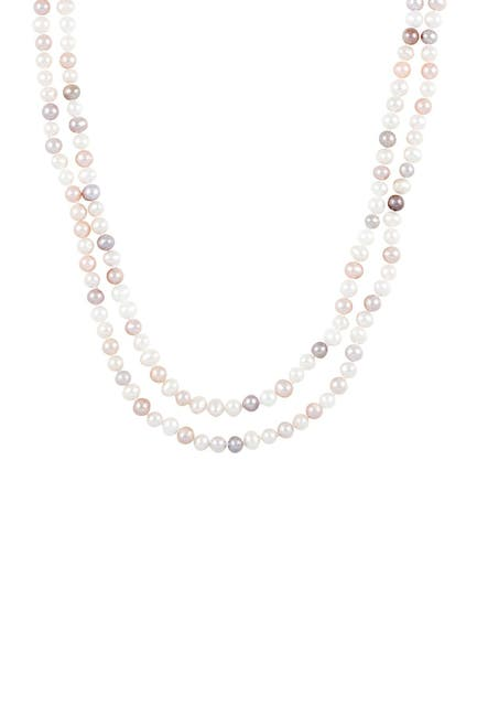 Image of Splendid Pearls Natural Multicolored 5-5.5mm Cultured Freshwater Pearls Endless Necklace