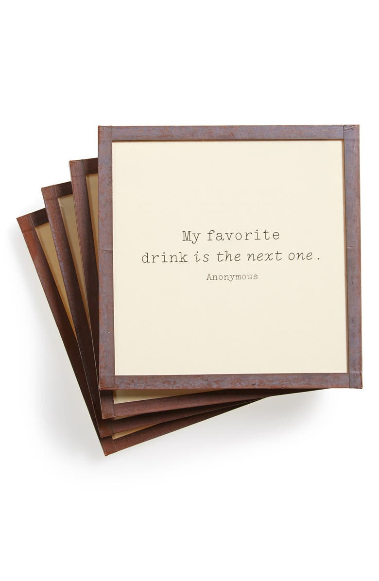 BEN'S GARDEN 'My Favorite Drink' Coasters, Main, color, 200