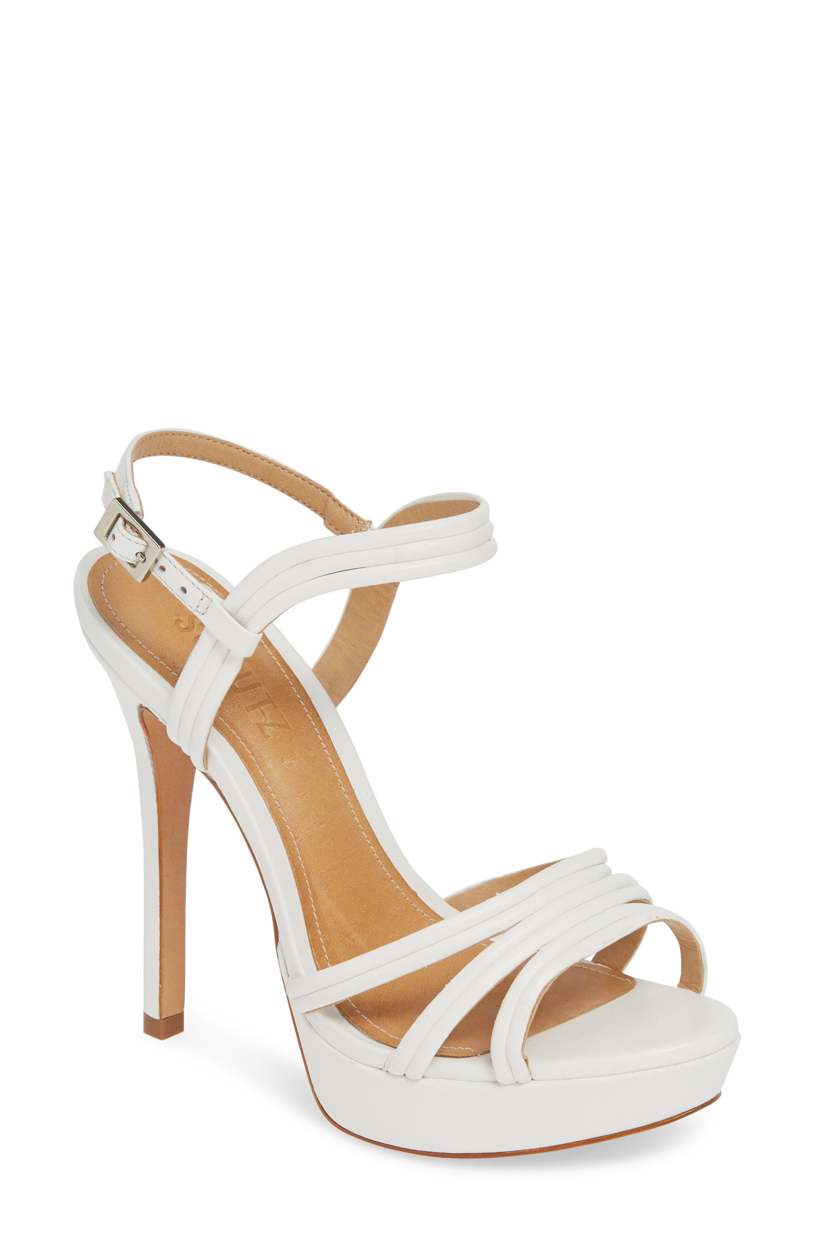 Schutz Bogga Platform Sandal, White