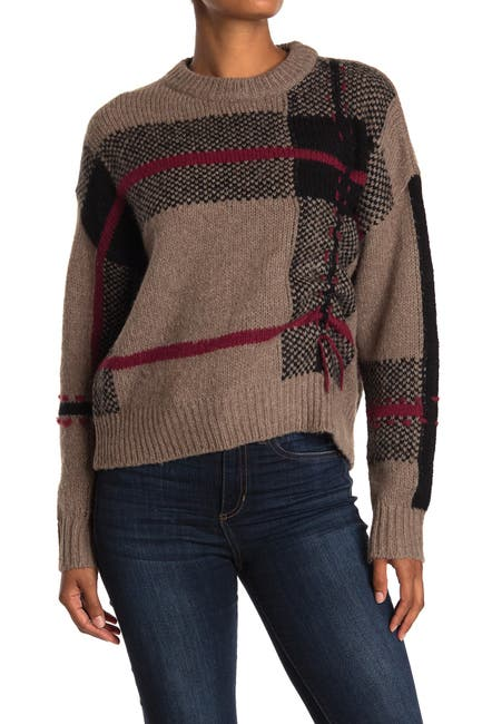 Image of 360 Cashmere Sivan Wool & Cashmere Blend Plaid Sweater