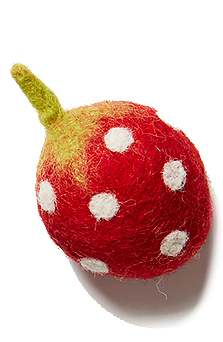 LOVETHYBEAST Strawberry Wool Dog Toy, Main, color, RED