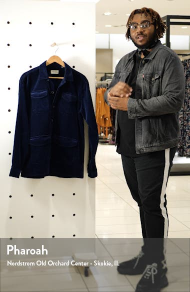 Grove Slim Cut Corduroy Shirt Jacket, sales video thumbnail