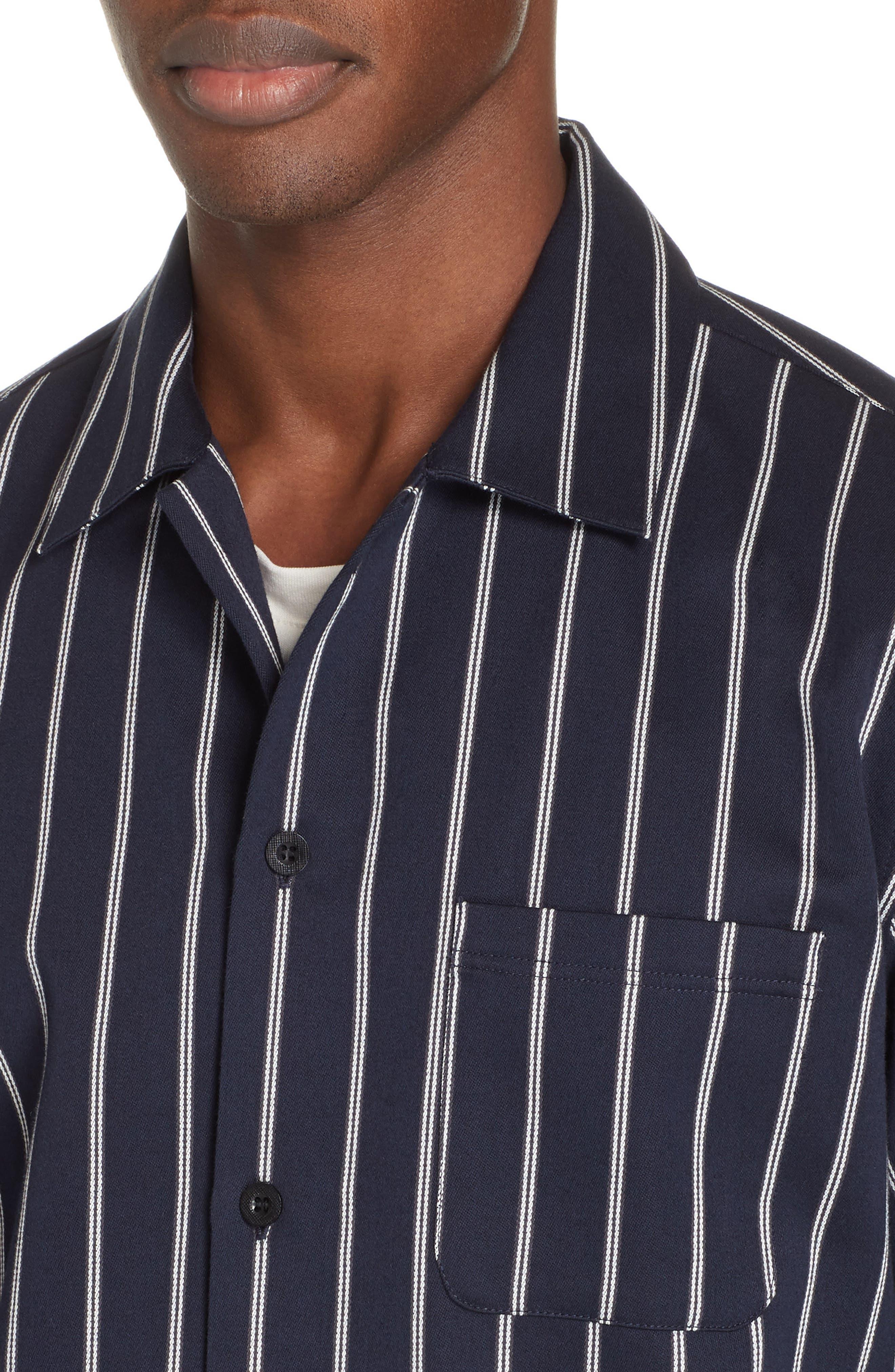 ,                             Mint Stripe Extra Slim Fit Sport Shirt,                             Alternate thumbnail 2, color,                             DARK NAVY