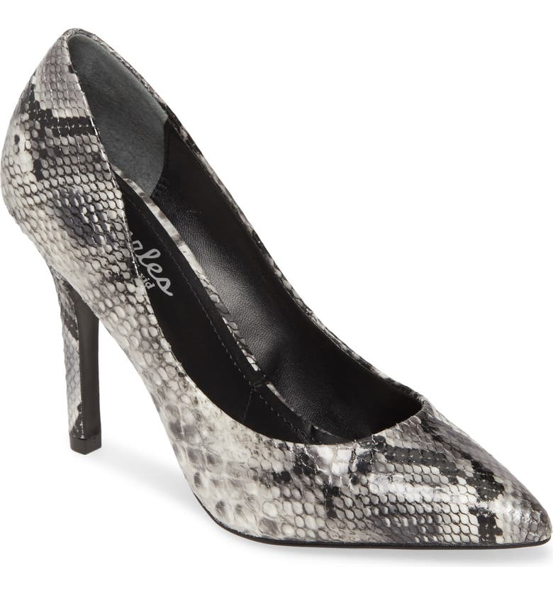 CHARLES BY CHARLES DAVID Maxx Pointy Toe Pump, Main, color, BLACK/ WHITE FAUX SNAKE