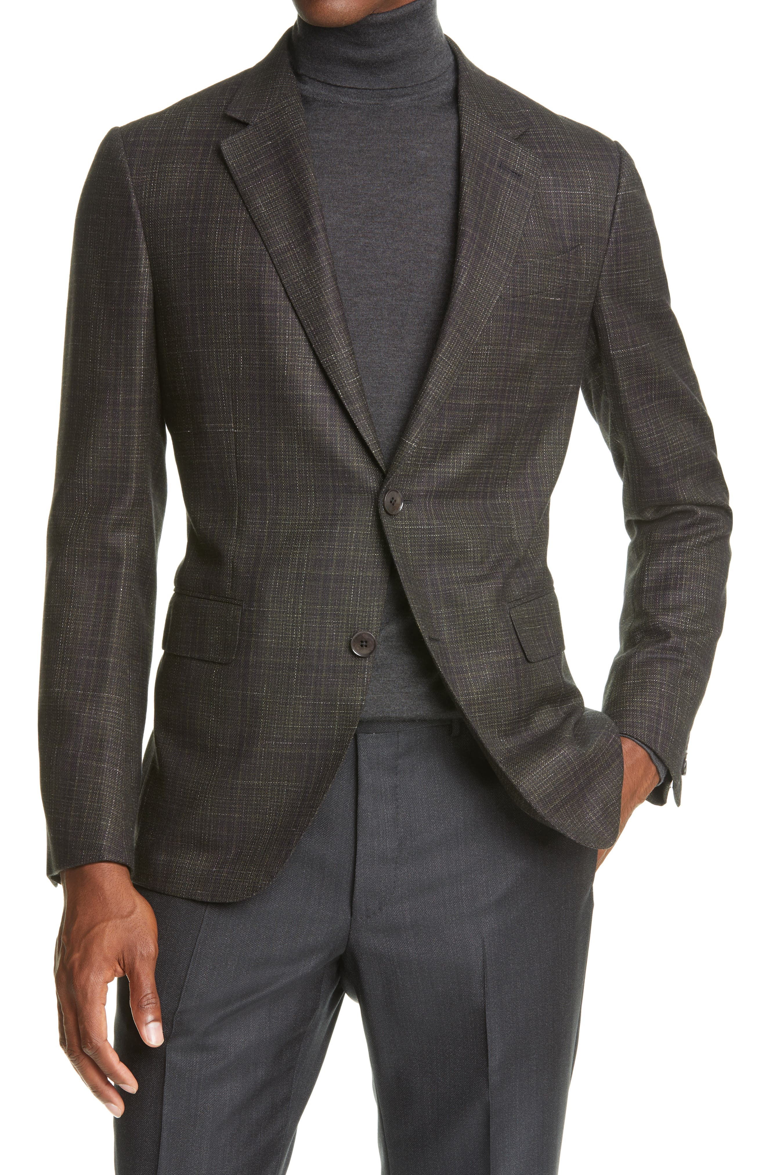 Image of Ermenegildo Zegna Milano Easy Light Wool Blend Sport Coat