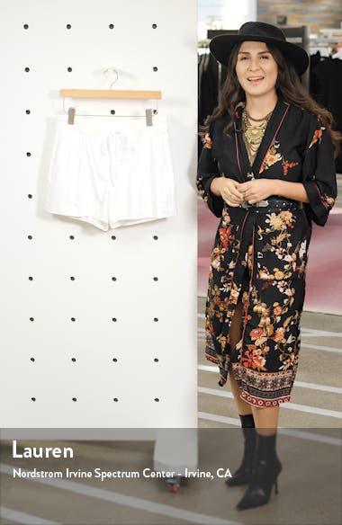 Drawstring Stretch Linen Blend Shorts, sales video thumbnail