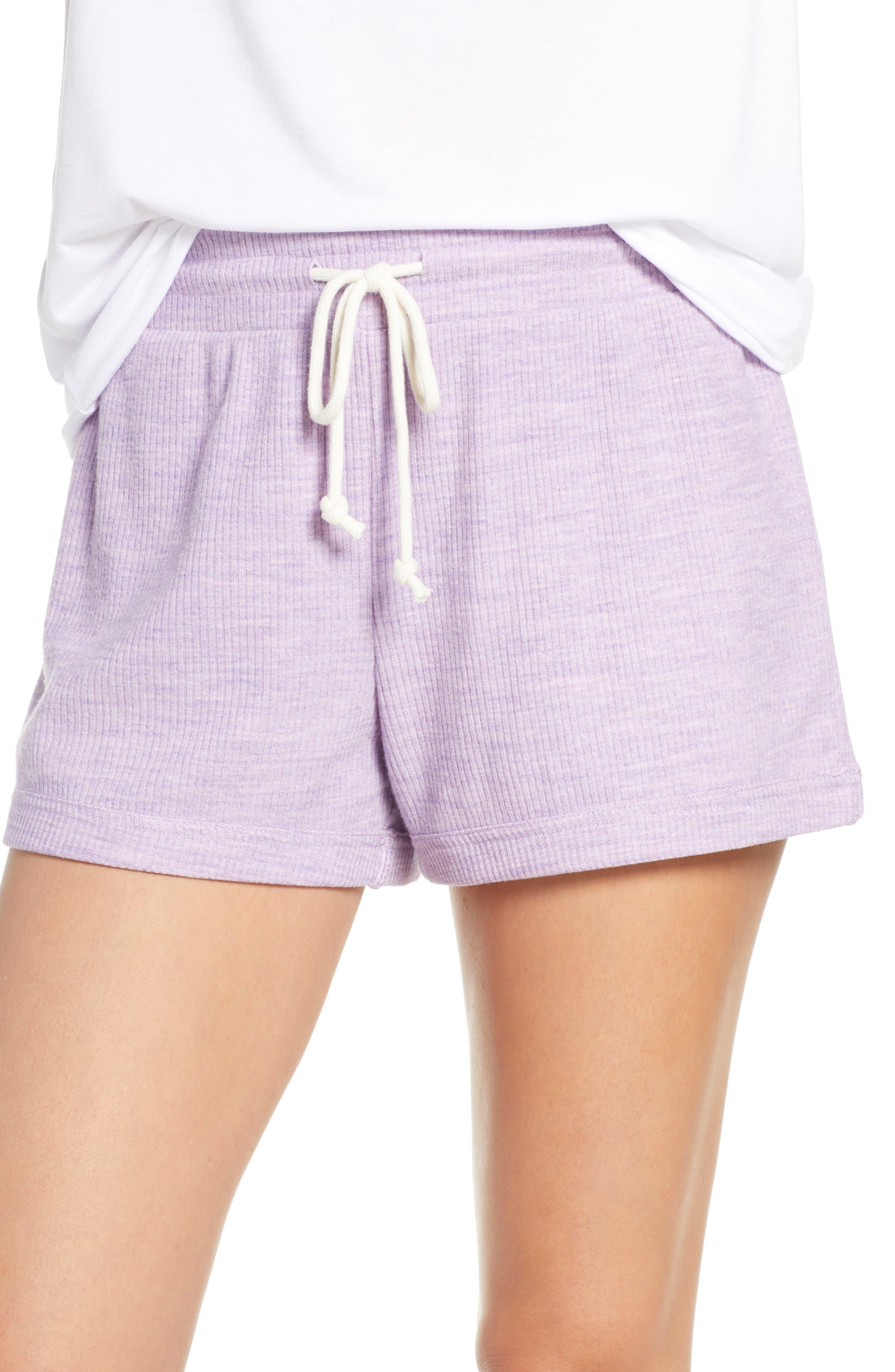 Something Navy Ribbed Pajama Shorts, Purple (Nordstrom Exclusive)