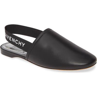 Givenchy Rivington Logo Slingback Flat, Black