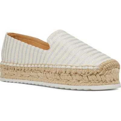 Nine West Lucy Platform Espadrille- Metallic