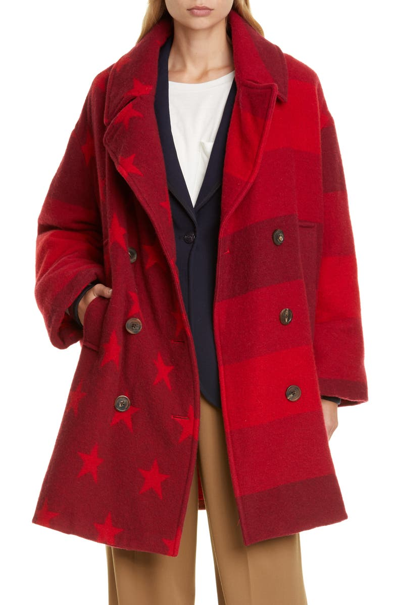 Crest Wool Blend Blanket Coat by Hilfiger Collection