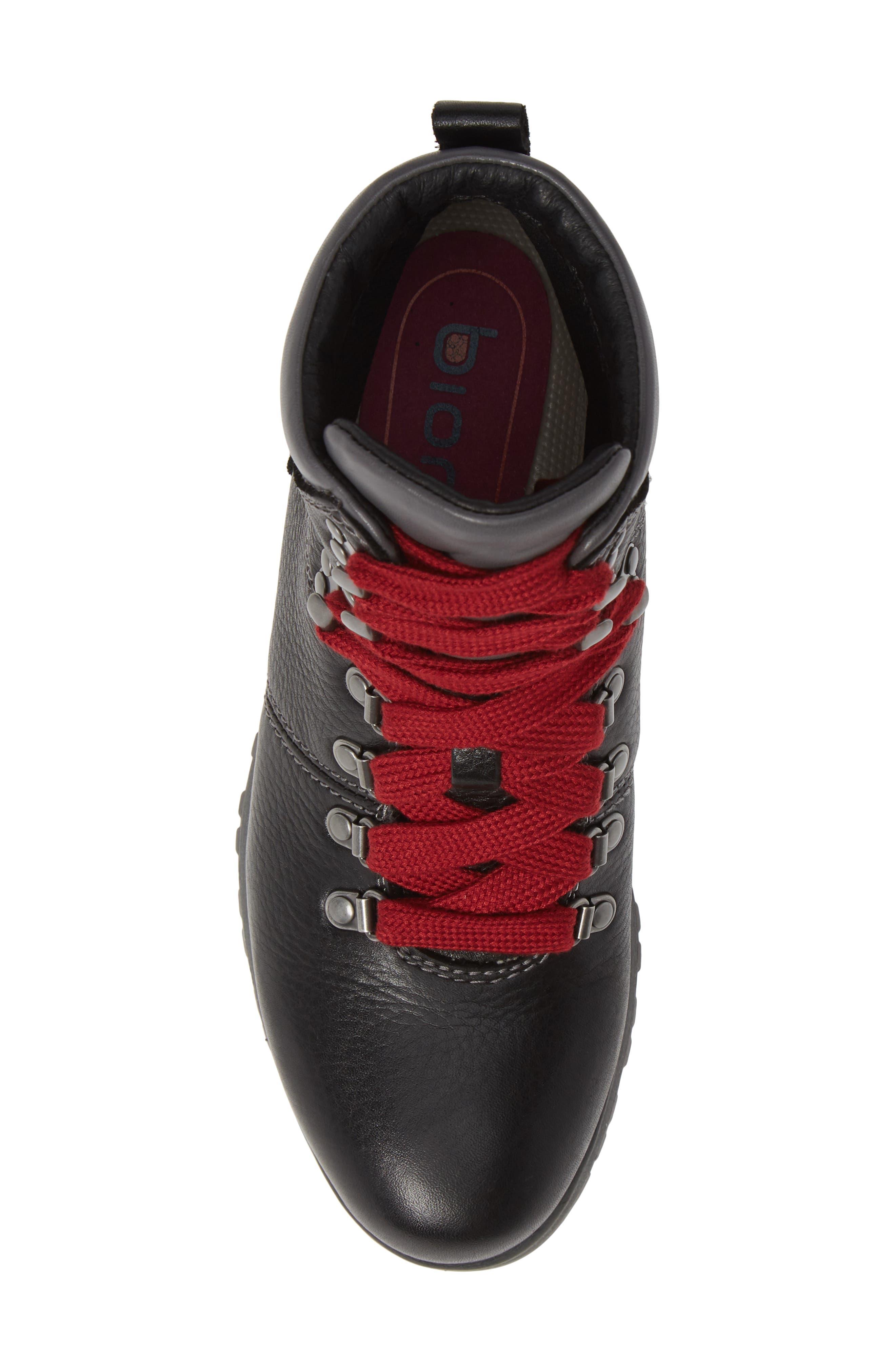,                             Dalton Lace-Up Waterproof Boot,                             Alternate thumbnail 5, color,                             BLACK LEATHER