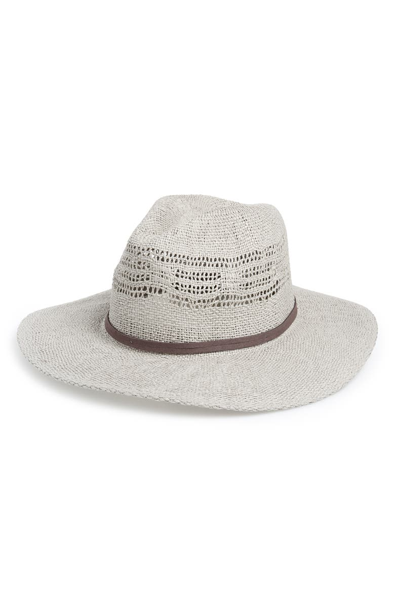 TREASURE & BOND Open Weave Panama Hat, Main, color, 030