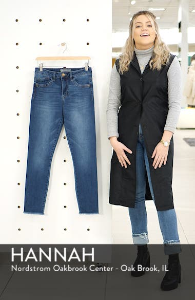 High Waist Fray Hem Seamless Skinny Ankle Jeans, sales video thumbnail