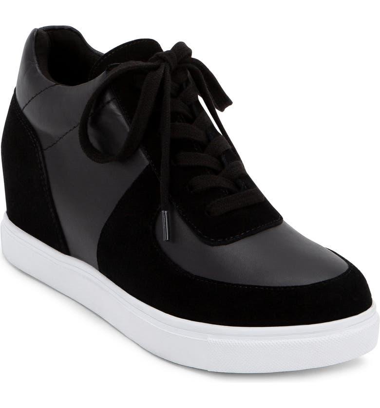 BLONDO Goldy Waterproof Sneaker Bootie, Main, color, BLACK MULTICOLOR LEATHER