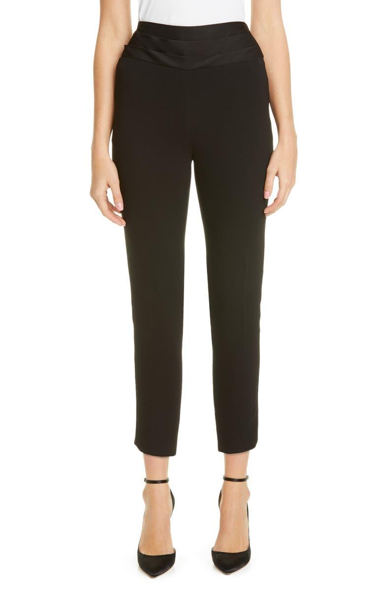 JASON WU COLLECTION Cummerbund Crop Tuxedo Pants, Main, color, BLACK