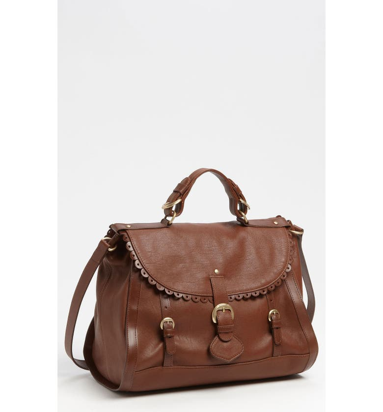 SEE BY CHLOÉ 'Poya Vintage - Large' Metallic Leather Satchel, Main, color, 201