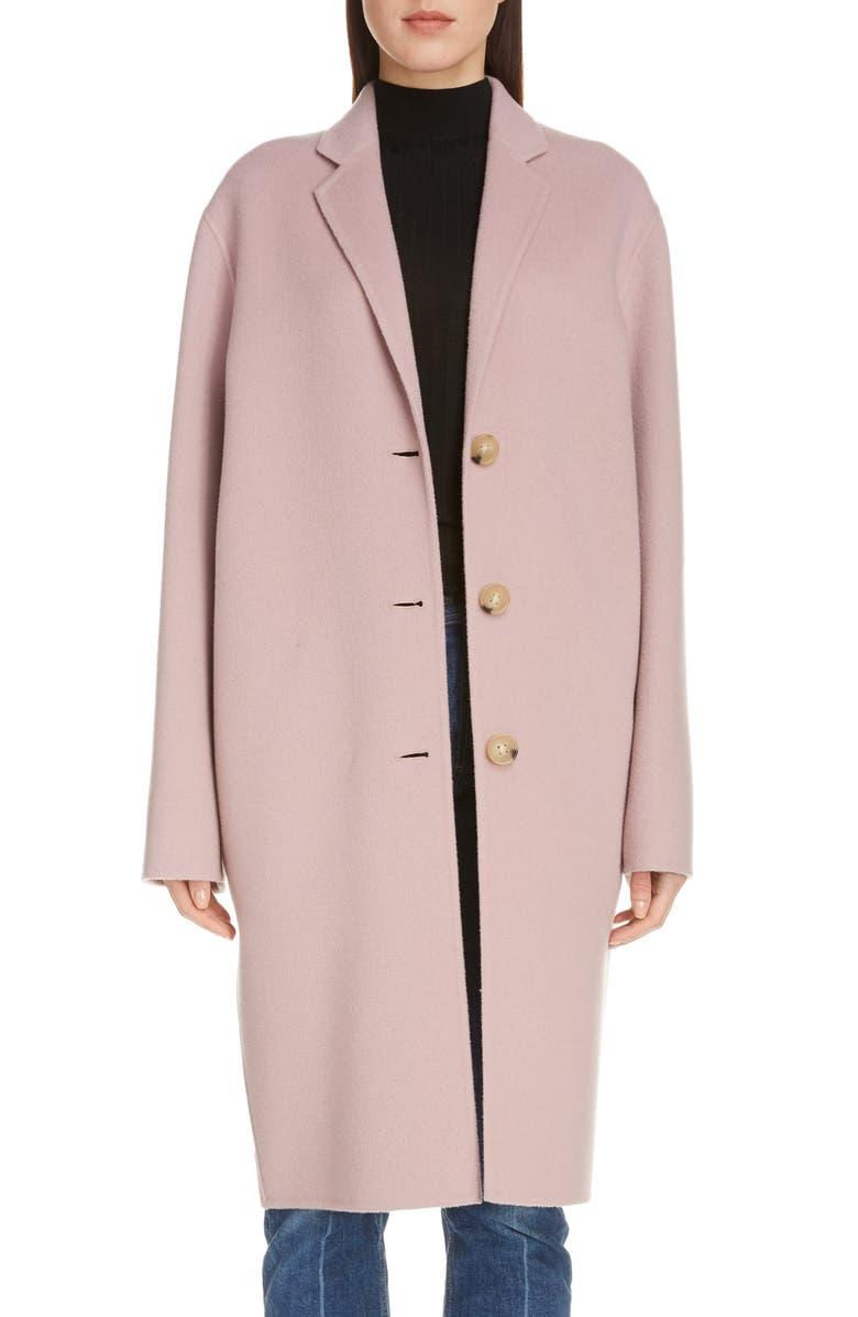 ACNE STUDIOS Double Wool Coat, Main, color, POWDER PINK MELANGE