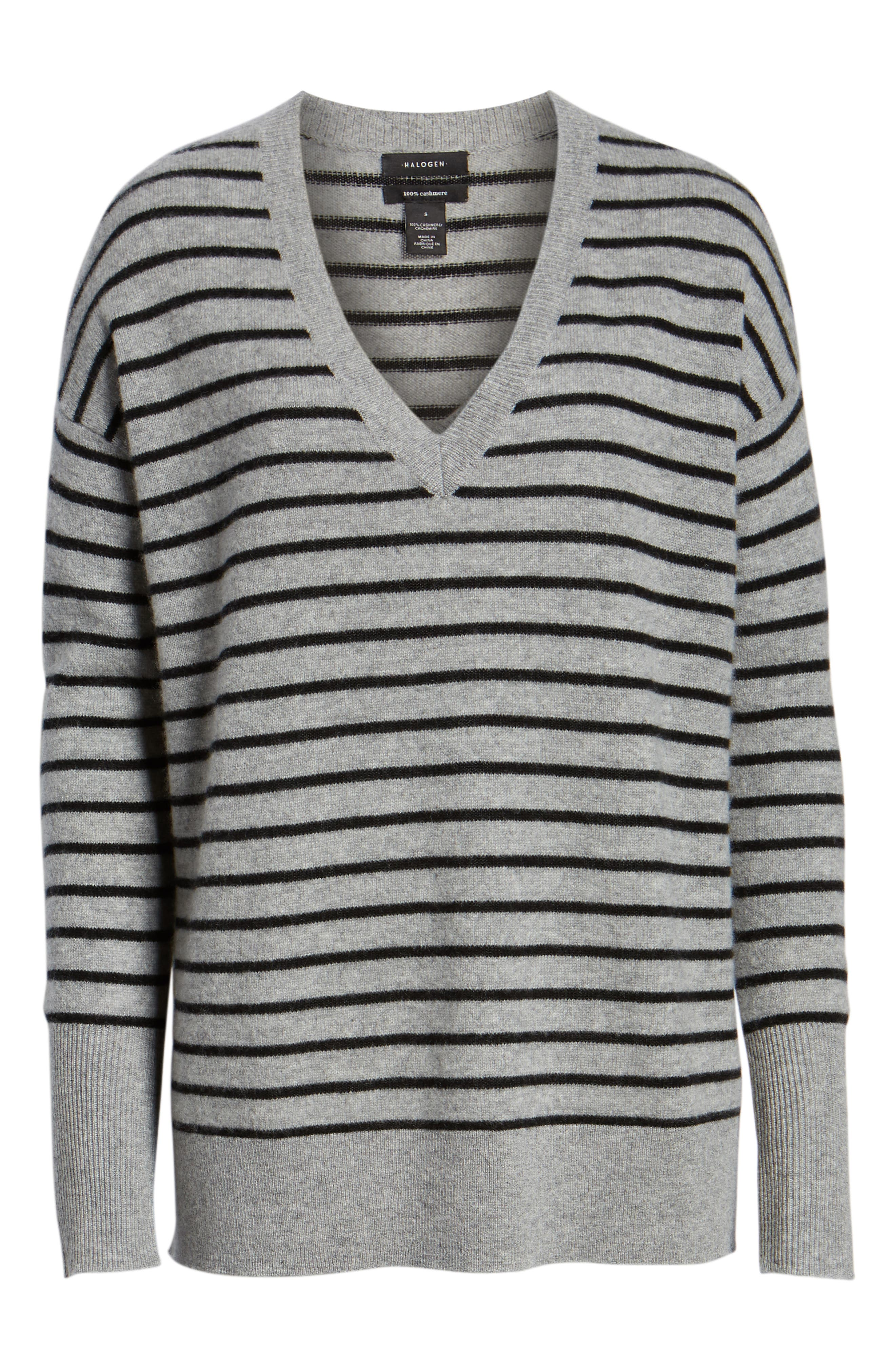 ,                             Relaxed V-Neck Cashmere Sweater,                             Alternate thumbnail 34, color,                             031
