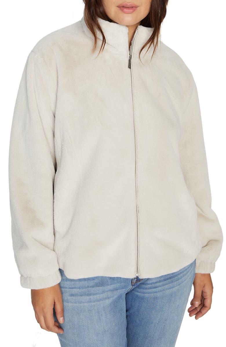 SANCTUARY Sami Faux Fur Jacket, Main, color, LT CHAMPAGNE