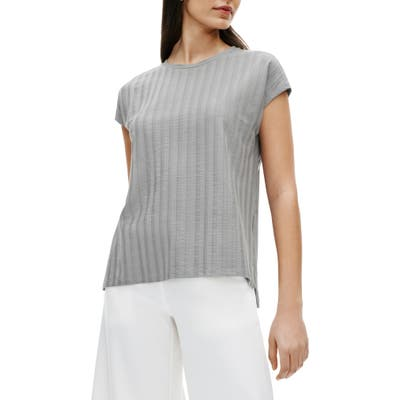 Eileen Fisher Ribbed Top, Grey