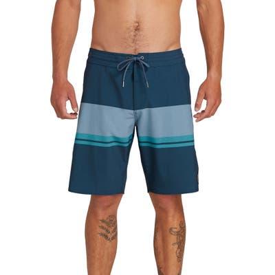 Volcom Quarta Static Stoney Board Shorts, Blue