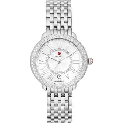 Michele Serein Mid Diamond Watch Head & Bracelet, Mm