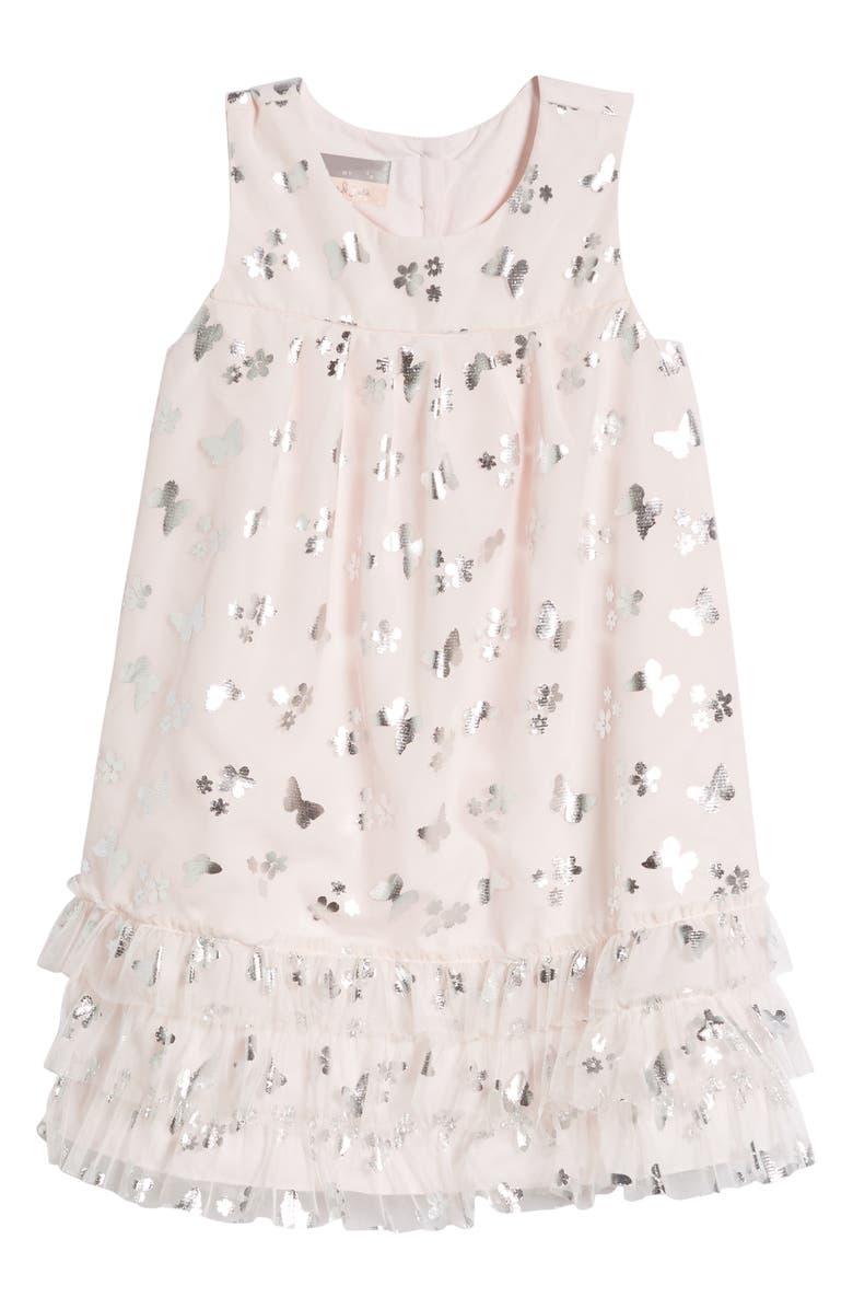 PASTOURELLE BY PIPPA & JULIE Butterfly Trapeze Dress, Main, color, 650