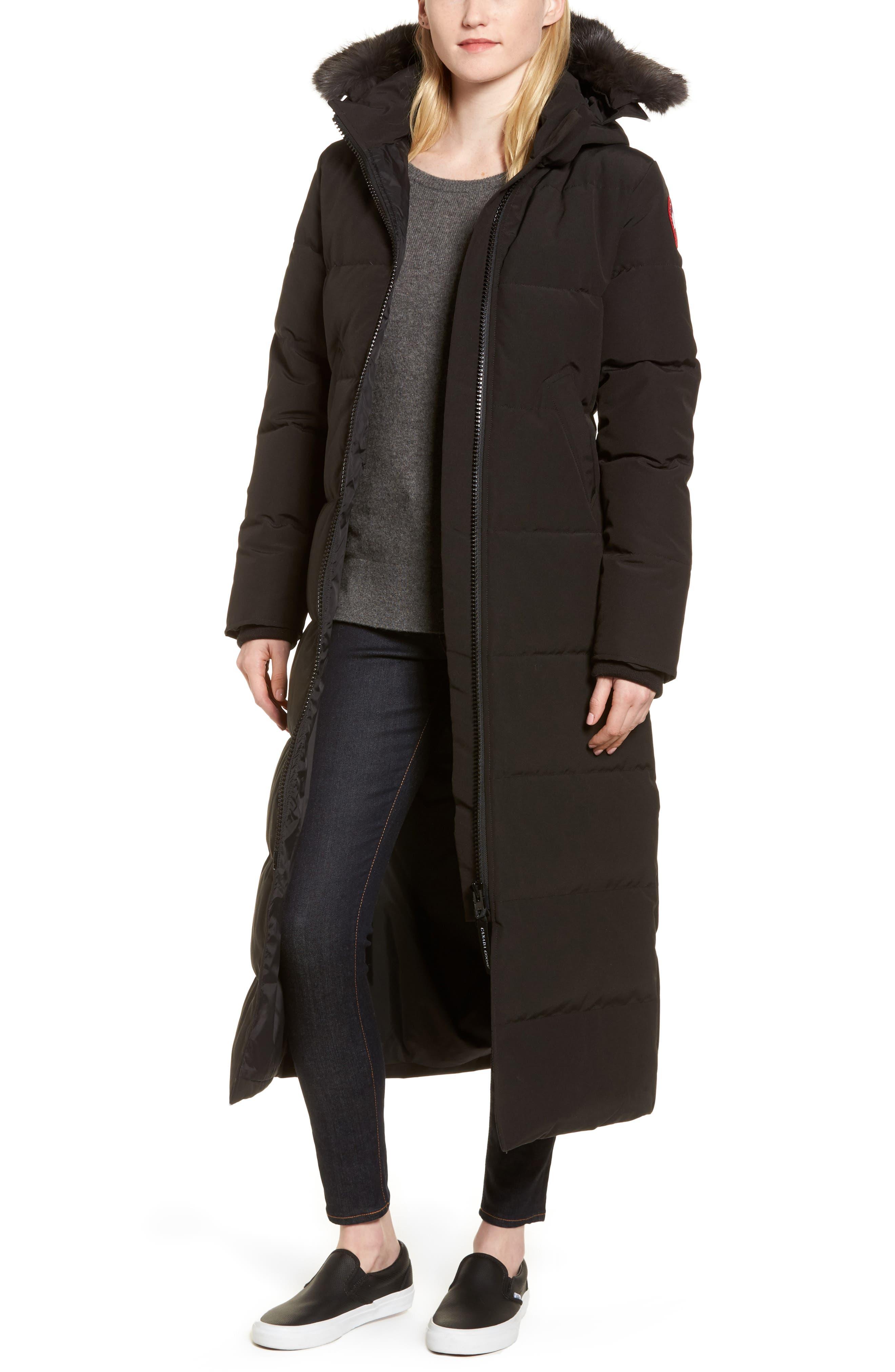Canada Goose Mystique Regular Fit Down Parka With Genuine Coyote Fur Trim, (0) - Black