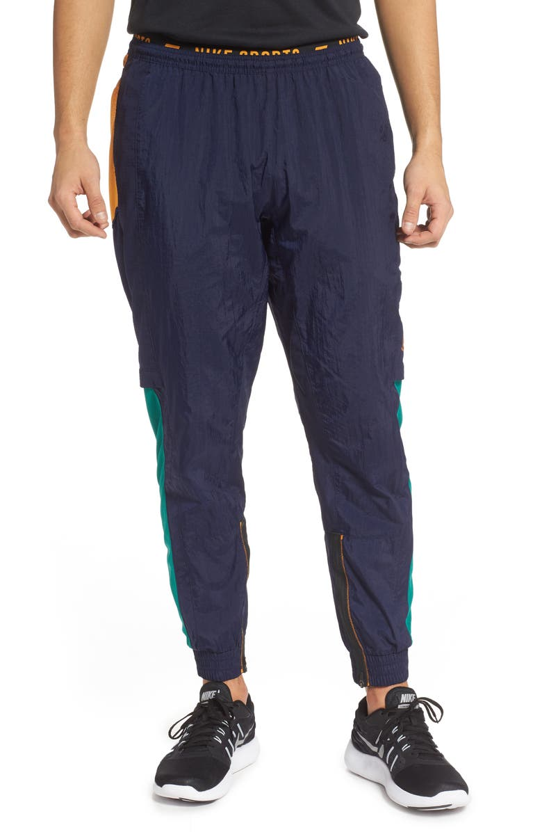 NIKE Flex Sport Clash Dri-FIT Pants, Main, color, BLACKENED BLUE/ KUMQUAT