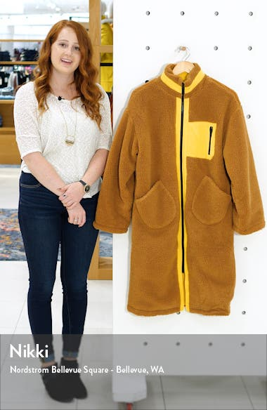 Zip Up Teddy Long Coat, sales video thumbnail