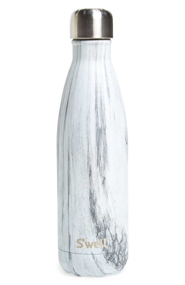 S'WELL 'Birch Wood' Stainless Steel Water Bottle, Main, color, 020